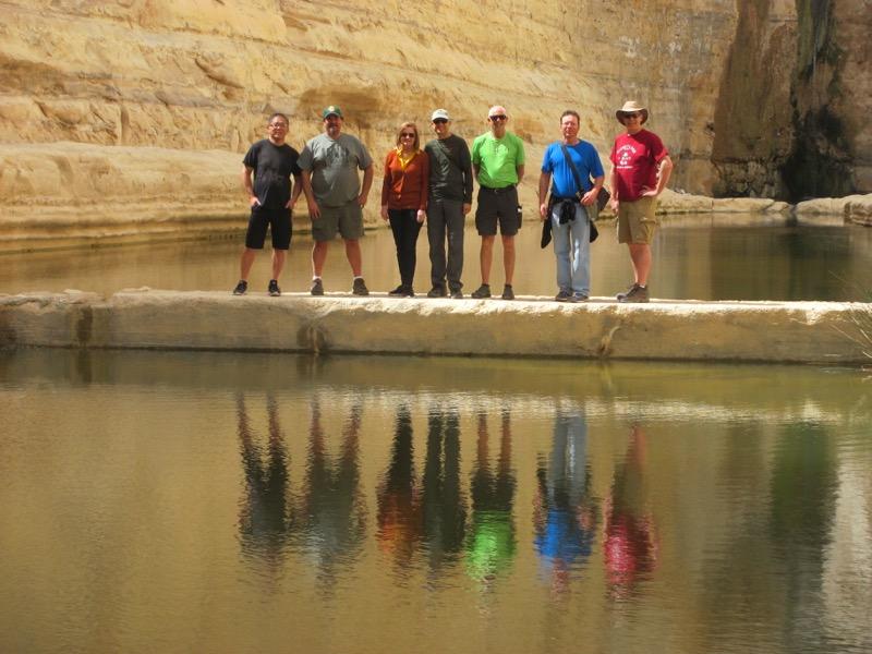wadi zin reflection on water israel