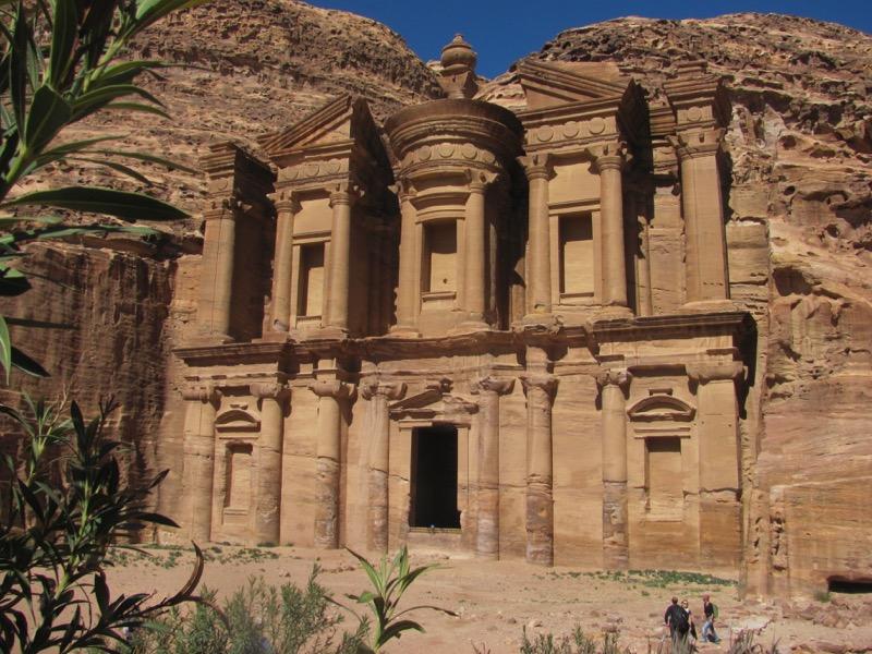 monastery tomb at petra