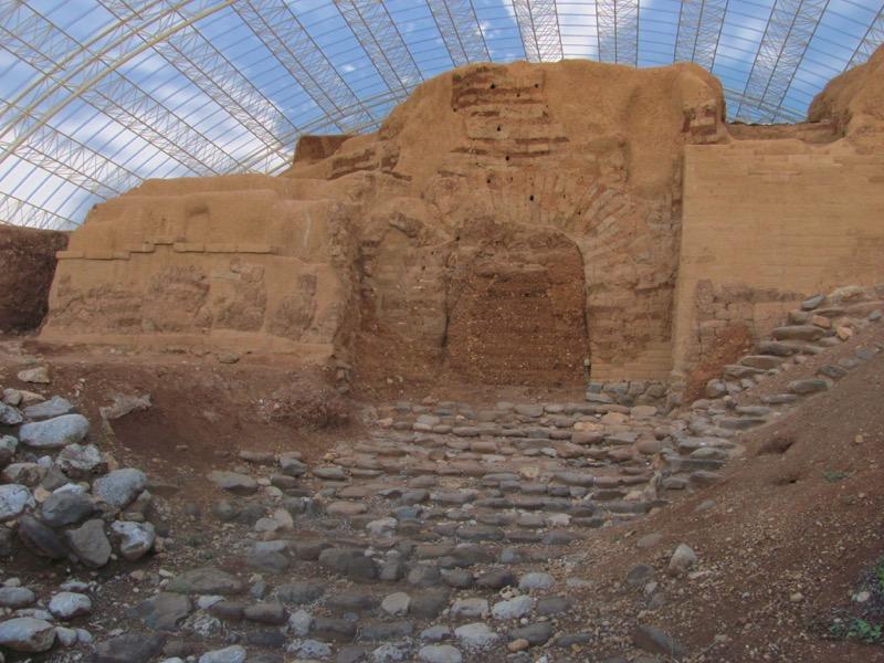 dan mud brick gate canaanite