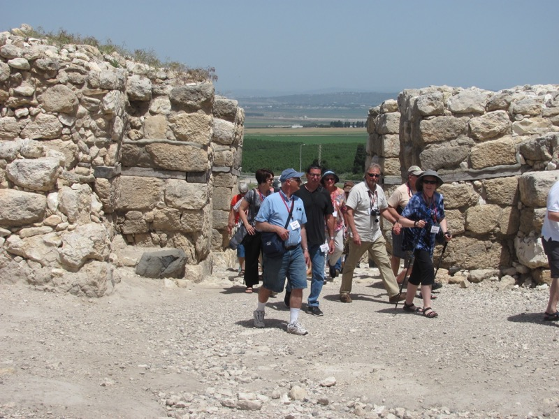 walking through canaanite gate megiddo