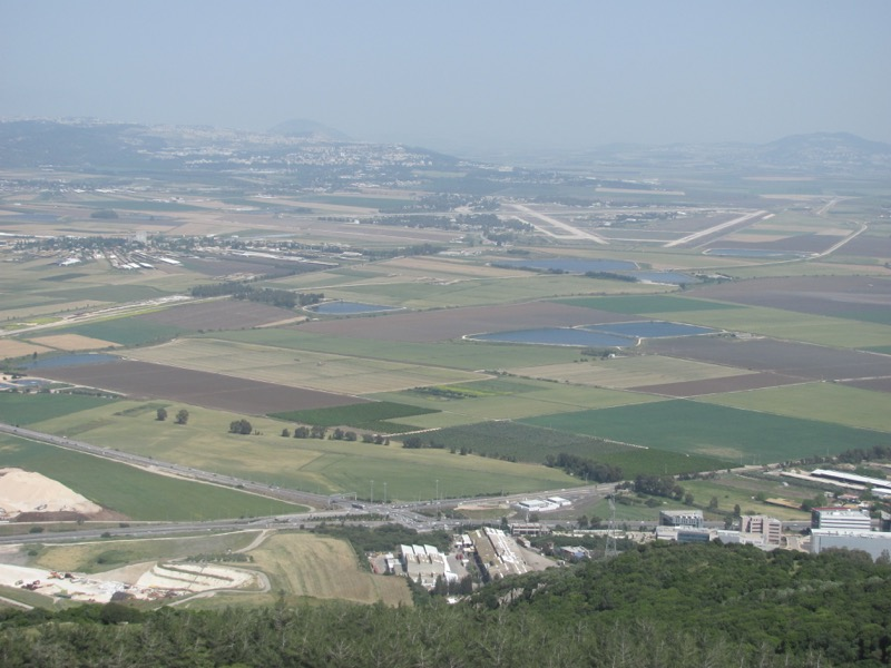 jezreel valley from muhraqa