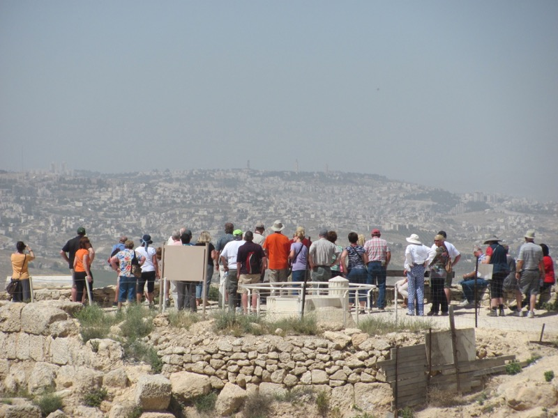 on top of herodium looking to bethlehem