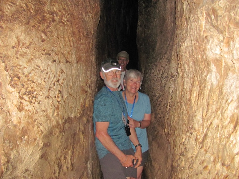 walking through hezekiah's tunnel