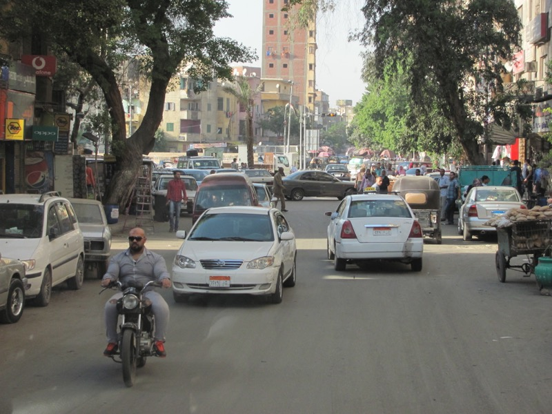 driving on cairo streets