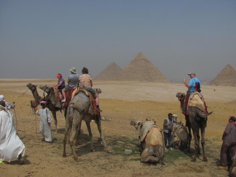 giza pyramid Cairo egypt camel ride