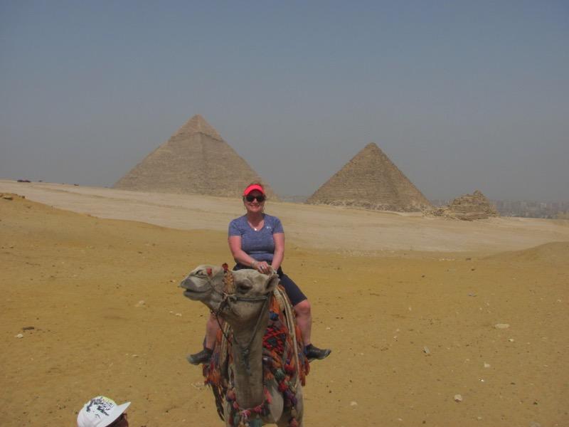 camel ride giza pyramid Cairo egypt