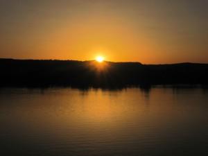 Sunset on Nile River