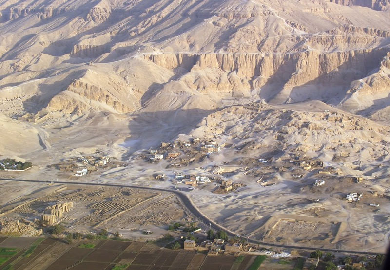 Valley of the Nobles (Luxor) - aerial view
