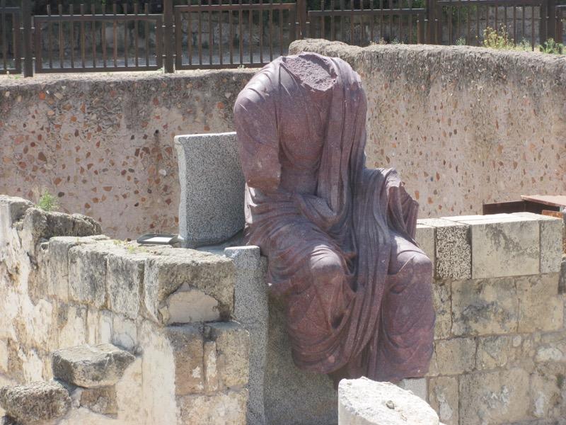augustus statue caesarea israel