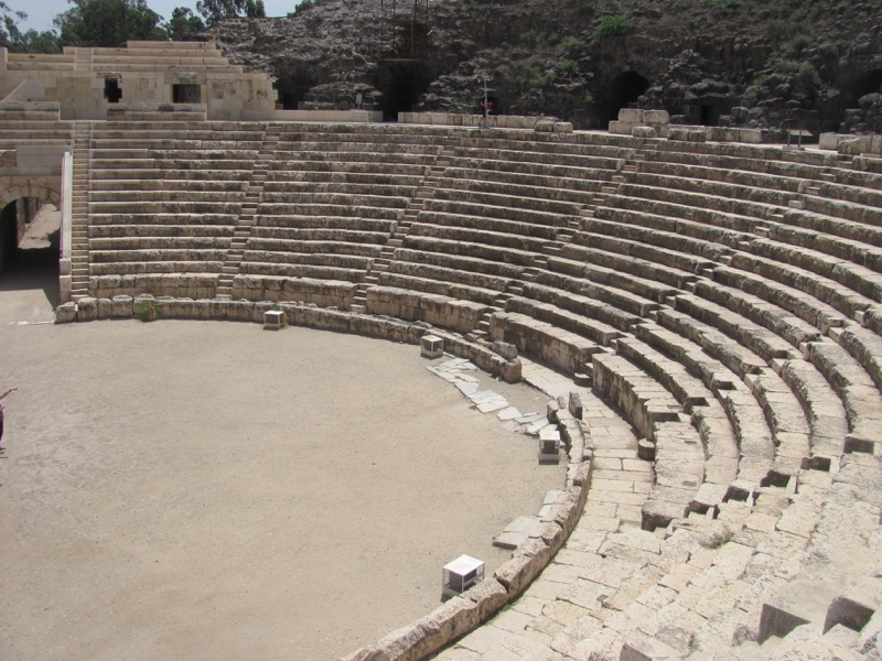 roman theater beth shean