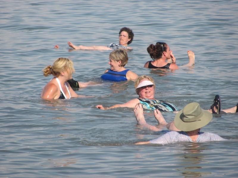 floating in dead sea israel