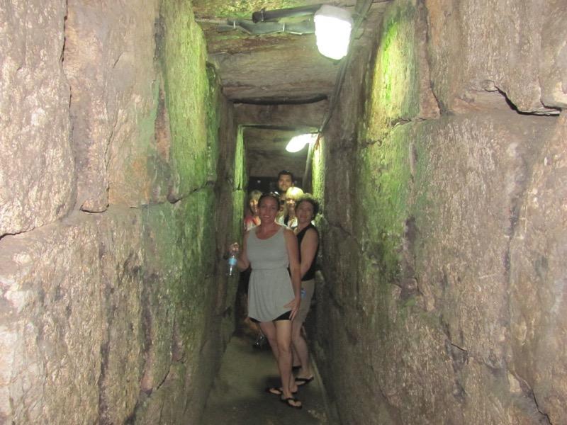 walking in herodian drainage channel