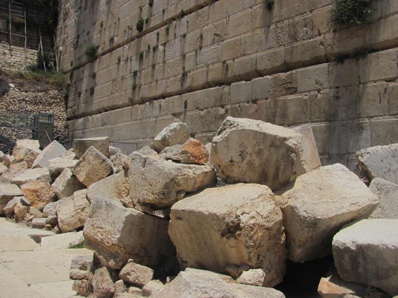 temple mount stones on roman street