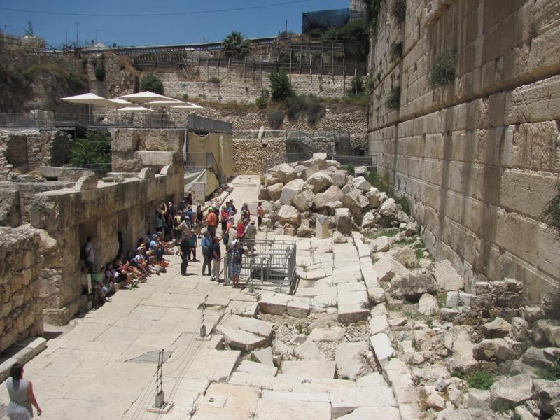 roman street south wall excavations jerusalem