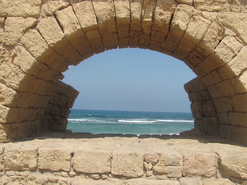 aquaduct at caesarea israel
