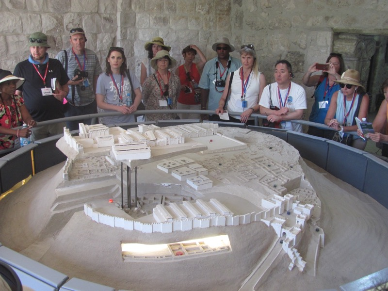 archaeological model at megiddo