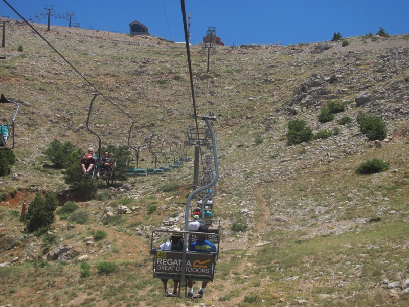 riding the ski chair at mt hermon israel