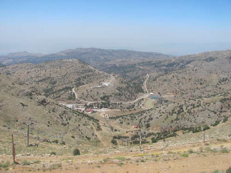 view from top of mt hermon