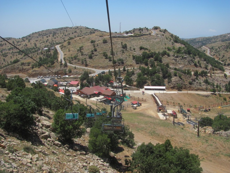 riding ski lift at mt hermon israel