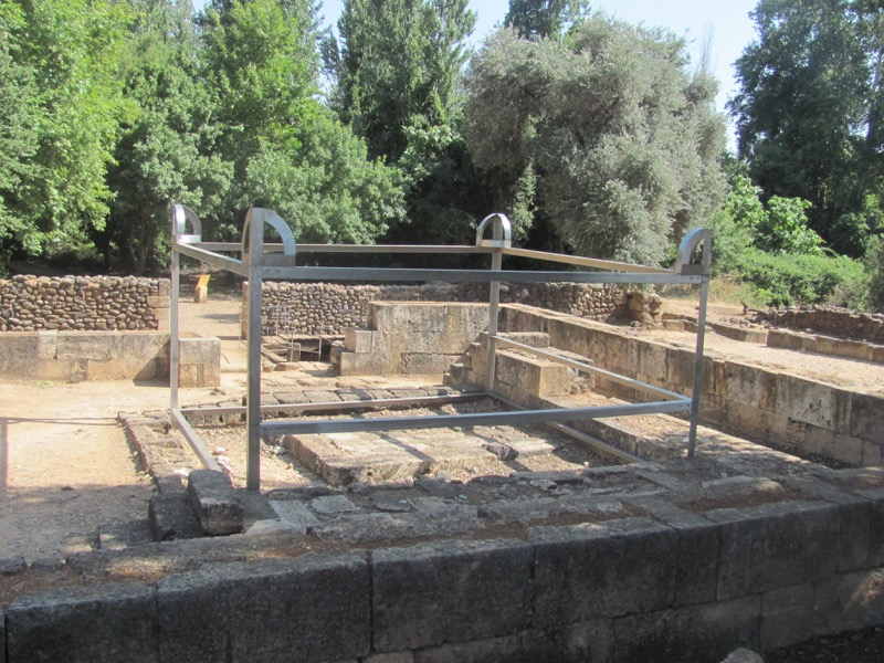 horned altar at tel dan israel