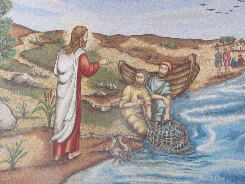 Jesus walking on the sea of galilee