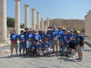 """The """"blue shirt"""" group at Beth Shean"""