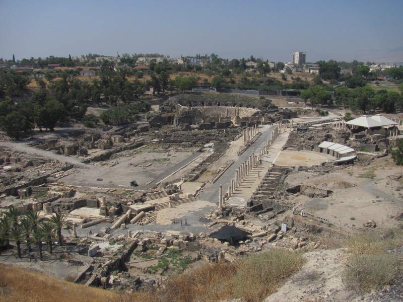 Beth Shean roman ruins