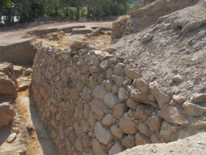 The Canaanite walls of tel jericho