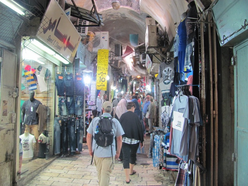 walking through old city jerusalem