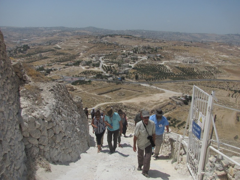 climbing to top of herodium