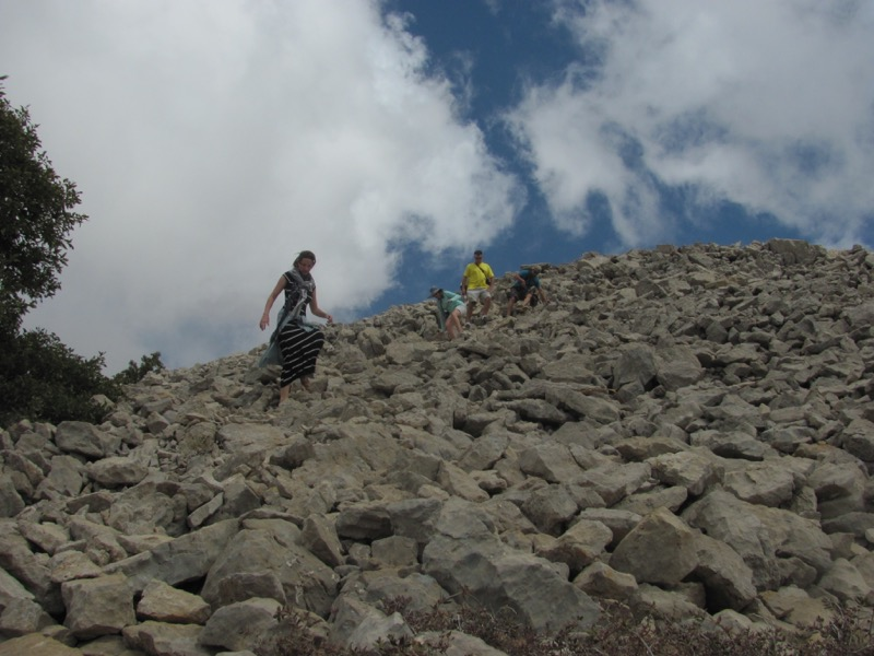 hiking down mt hermon
