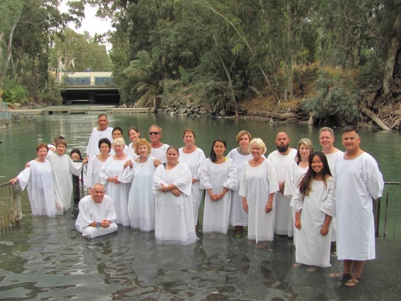jordan river baptism september 2016 israel tour