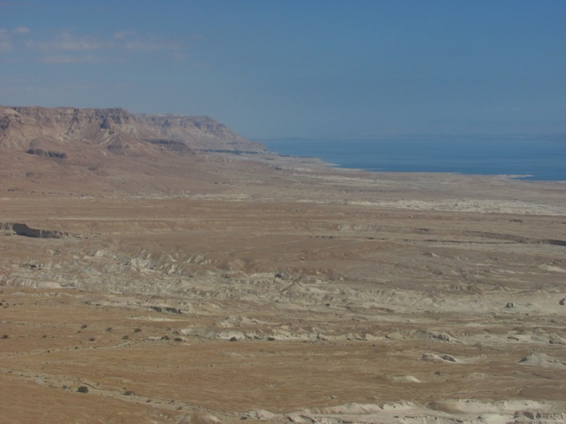 view of engedi from masada
