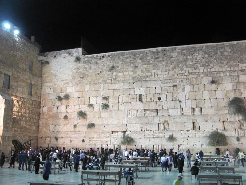 western wall at night jerusalem