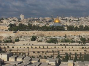 view of temple mount from mt. of olives