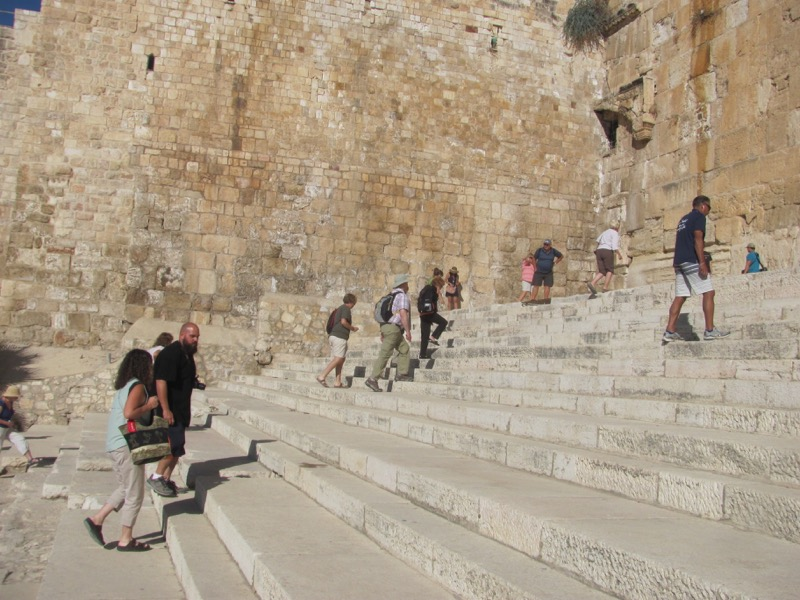 southern steps of temple