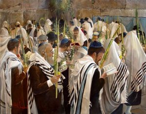Sukkot at western wall