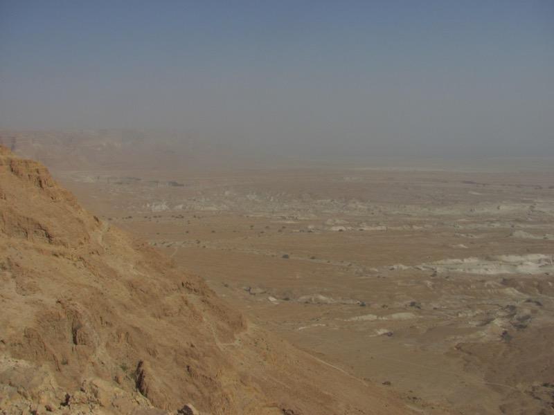 view from masada israel