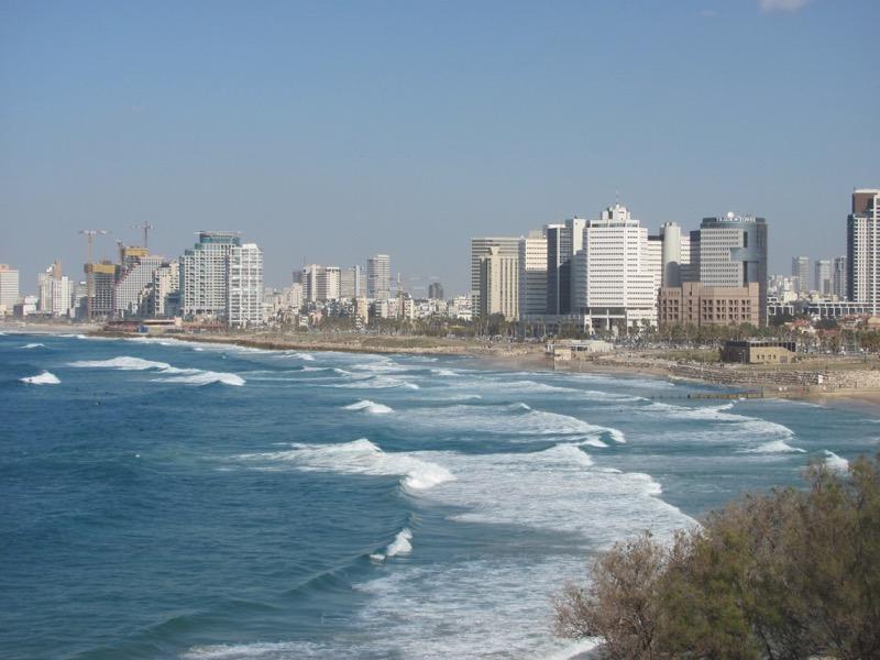 tel aviv coastline from jaffa