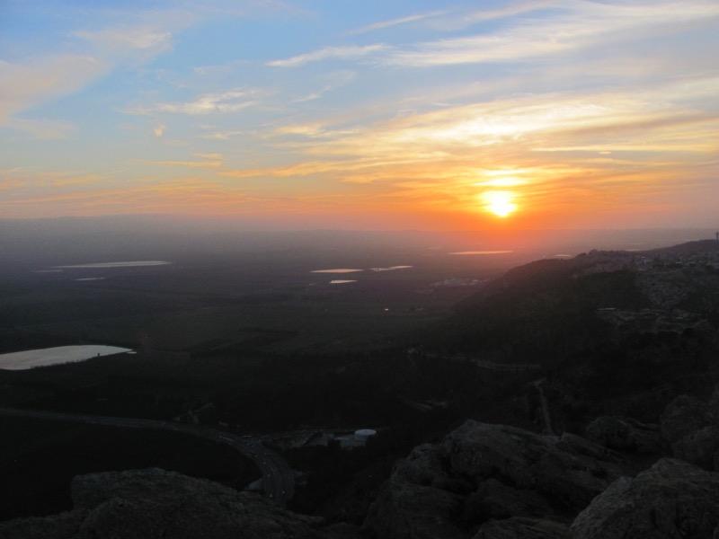 sunset israel jezreel valley