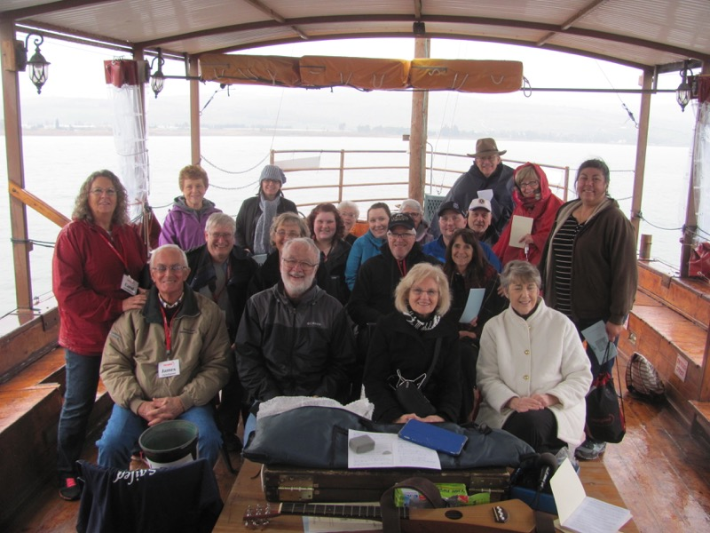 Sea of Galilee boat ride January 2017 Israel Tour