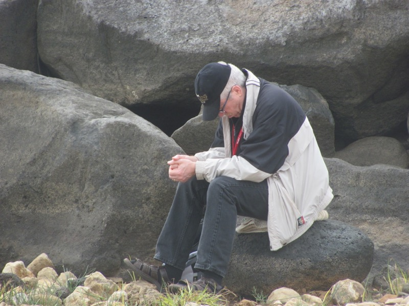 praying by the sea of galilee