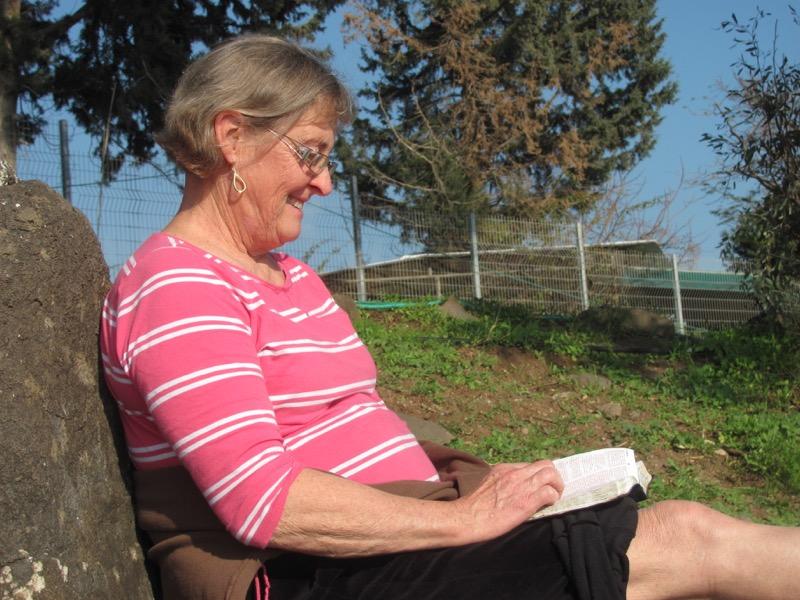 reflecting on Mt. of Beatitudes Israel