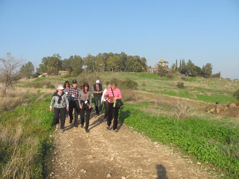walking down Mt. of Beatitudes israel