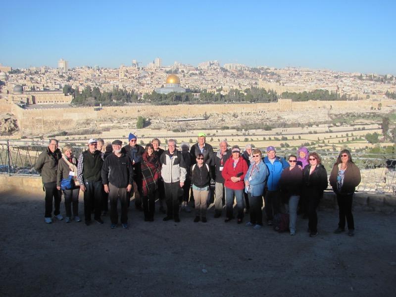 Mt. of Olives Jerusalem Temple Mount January 2017 Israel Tour
