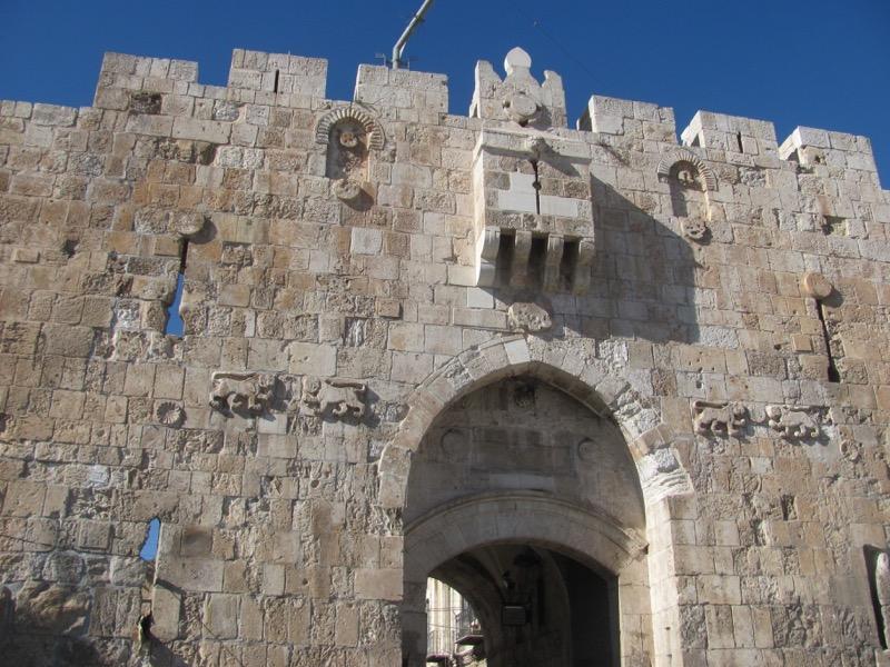 Lions gate jerusalem january 2017 israel tour