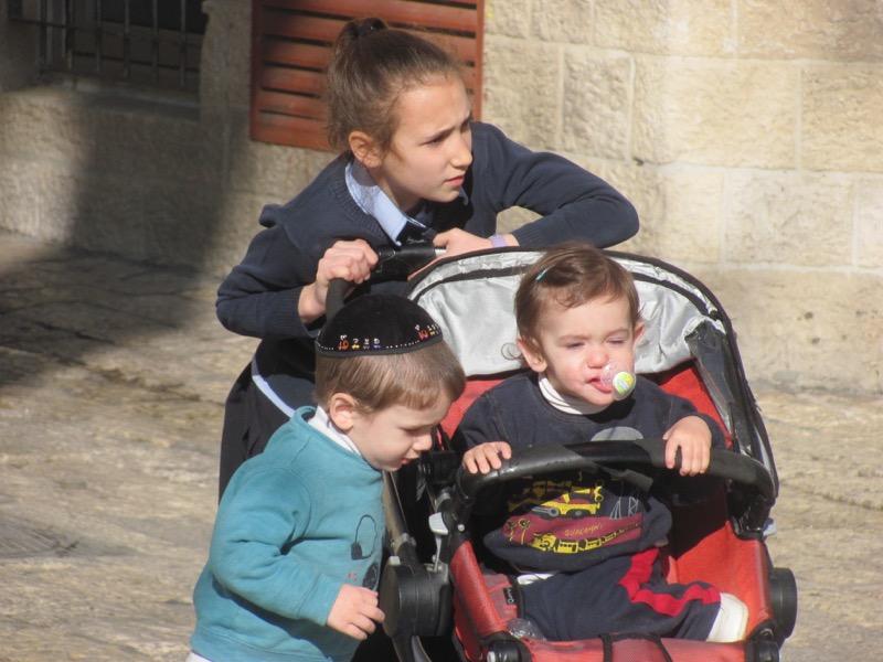 Jewish children Jerusalem January 2017 Israel Tour