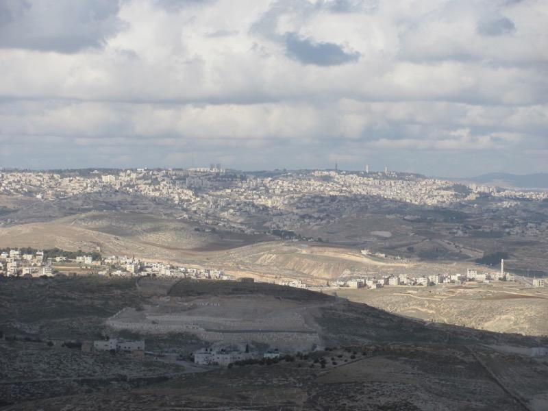 Bethlehem from Herodium January 2017 Israel Tour