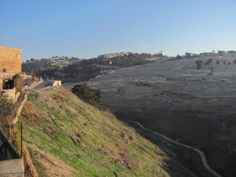 Kidron Valley Jerusalem January 2017 Israel Tour
