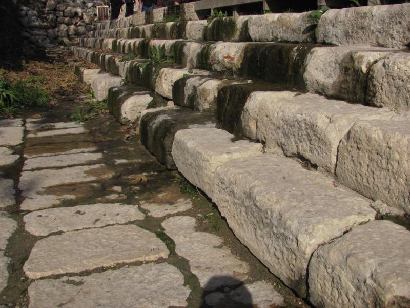 steps of pool of siloam Jerusalem January 2017 Israel Tour